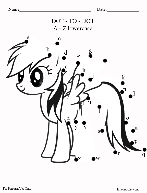 Free Worksheet My Little Pony Dottodot A Crunchy. Mylittlepony1rainbowdottodot. Worksheet. Name Dots Worksheet At Clickcart.co