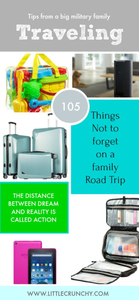 planning large family travel vacation packing list not to forget