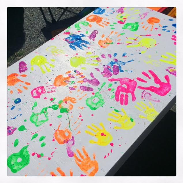 Kids Handprint Table 2