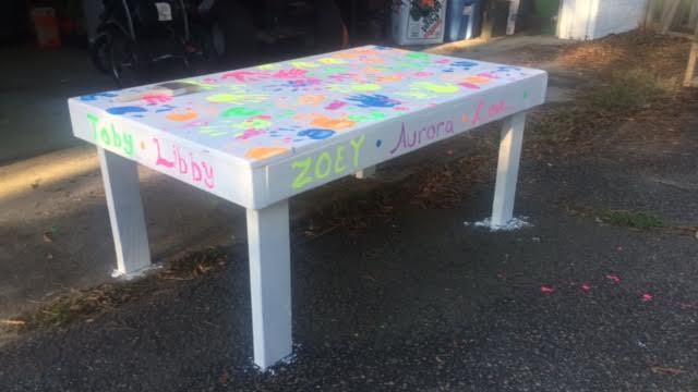 Kids Handprint Table 4