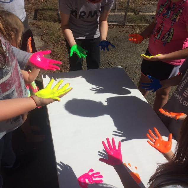 Kids Handprint Table