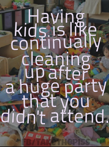 Having Lots Of Kids Messy