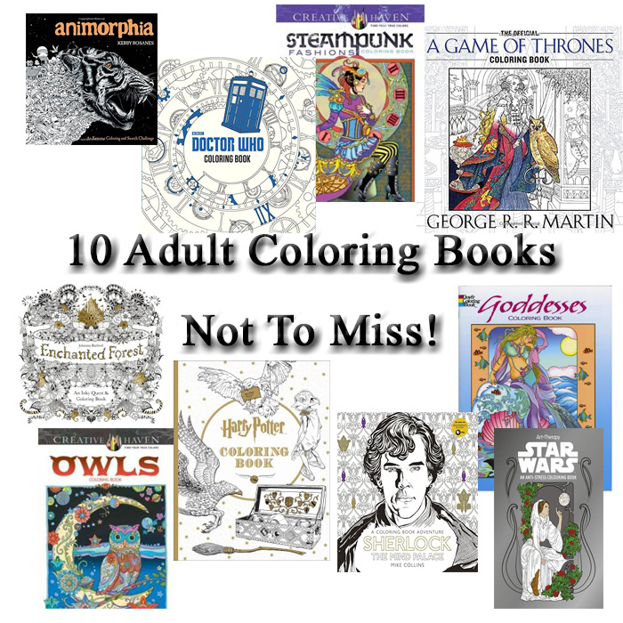 10 Adult Coloring Books Not To Miss | A Little Crunchy
