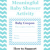 Baby Shower Activity Coupon Support Mom Dad