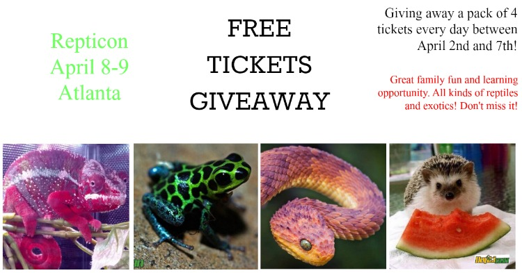 Blog Reptile tickets giveaway repticon