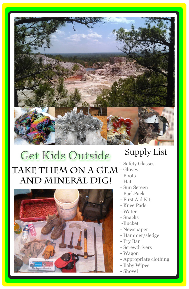 Graves Mountain Dig get kids outside ideas supply list