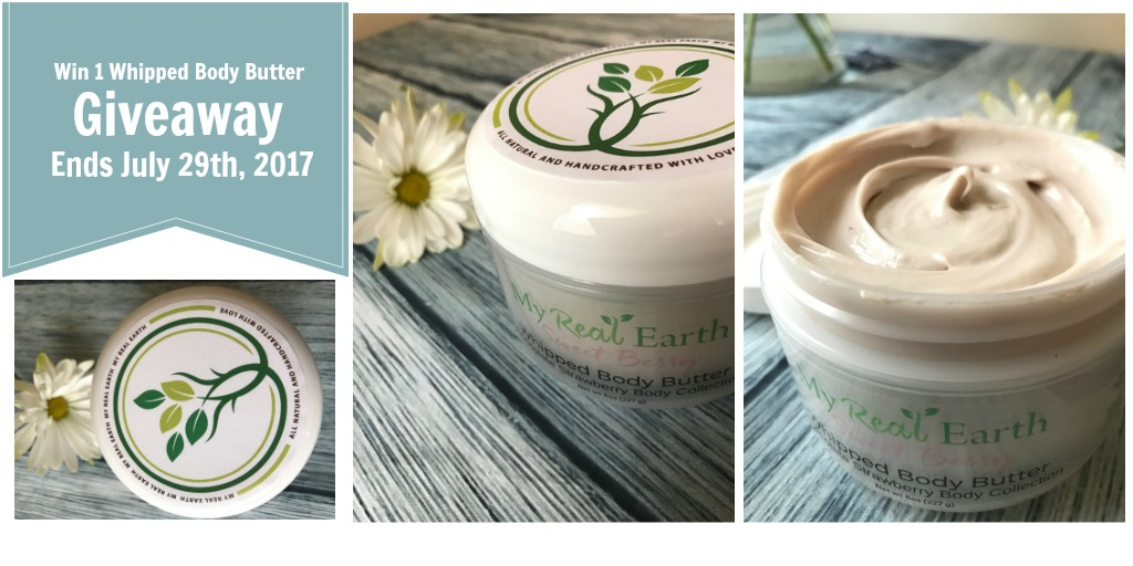 My Real Earth Giveaway Whipped Body Butter Review
