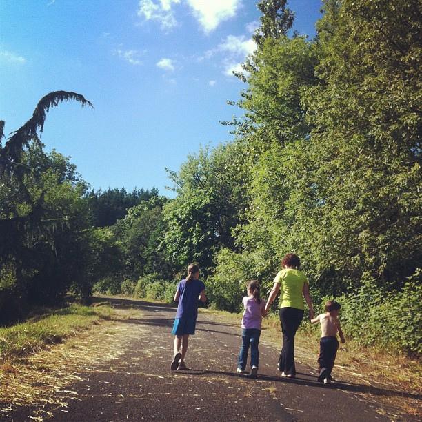 Walking Family Kids