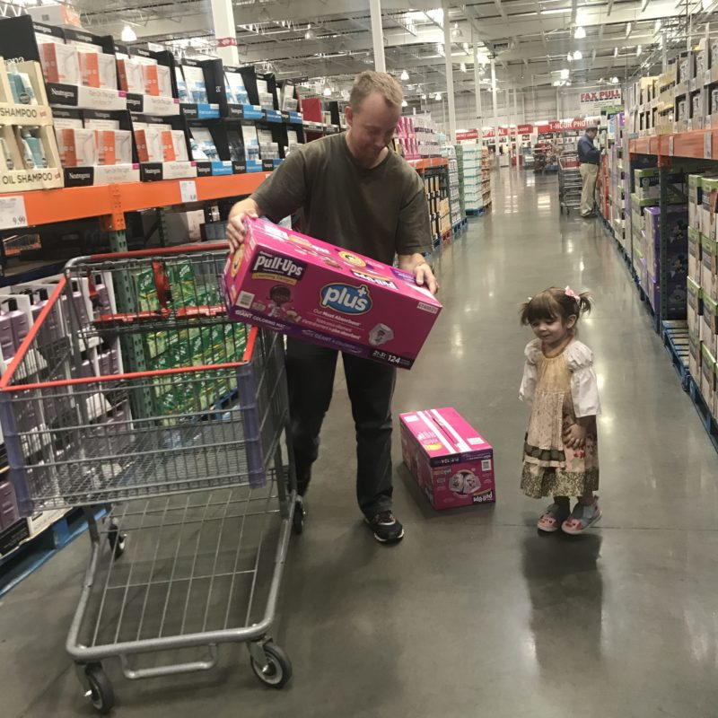 Rory adorable toddler shopping costco