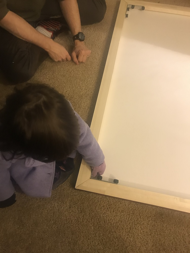 Little canvas frame building child helper!